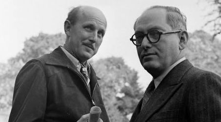 Michael Powell (left) and Emerice Pressburger
